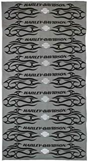 HARLEY-DAVIDSON Men's Pinstripes Flames Multifunctional Headwear, Gray MHW17754