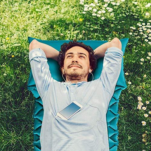 COSANSYS Isomatte Camping mit Kissen Schlafmatte Ultraleicht Aufblasbare Wasserdicht Kompakt Faltbar Kleines Packmaß Luftmatratze Schlafmatte für Outdoor, Innen,Zelt,Trekking,Backpacking usw