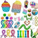 Fidget Toys Cheap Pack, Anti-Stress and Anti-Anxiety Fidget Toy Set, Fidget Toys Juguetes sensoriales, Push Bubble Toy, Sensory Fidget Toy Set para niños adultos, Regalos para niños (I)