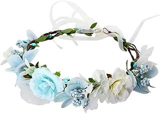 WINOMO 花かんむり 花冠 花飾り ヘアアクセサリー ブライダル ウェディング 結婚式 花嫁 写真 発表会