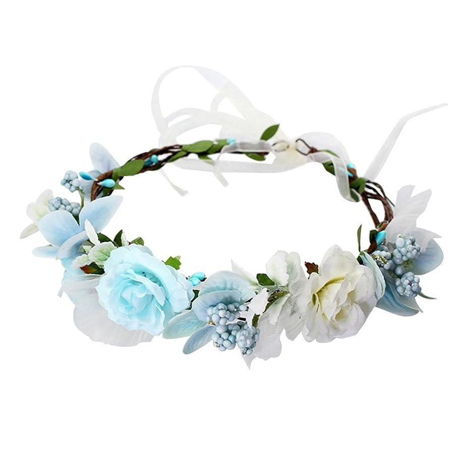 ウナギ大宇宙部屋を掃除するWINOMO 花かんむり 花冠 花飾り ヘアアクセサリー ブライダル ウェディング 結婚式 花嫁 写真 発表会