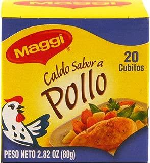 Bouillon Cubes (Chicken Flavor) 20 Cubes - 2.82oz (Pack of 3)