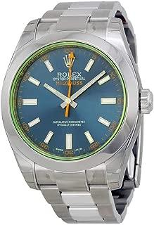 Rolex Milgauss Blue Dial Stainless Steel Mens Watch 116400GV