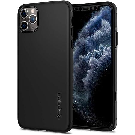 【最新改良モデル】【Spigen】 iPhone 11 Pro ケース 5.8インチ 対応 薄型 軽量 マット PC 傷防止 カメラ保護 Qi充電 ワイヤレス充電 対応 ハードカバー シン・フィット クラシック 077CS27450 (ブラック)