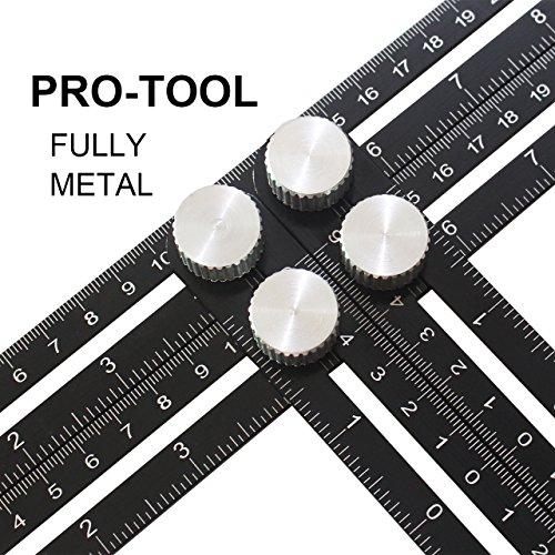 Aufgerüstetes Angleizer Template Tool, Multi-Angle Mess-Lineal für Handymen, Bauherren, Handwerker - Premium Aluminium-Legierung Material, Aus hochwertiger Aluminium-Legierung