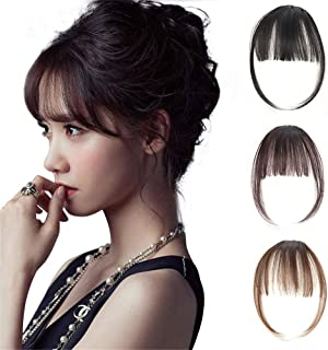 Natural Synthetic Hair Flat Bangs/Fringe Mini Hair Bangs Fashion one Clip-in Hair Extension (Jet Black)
