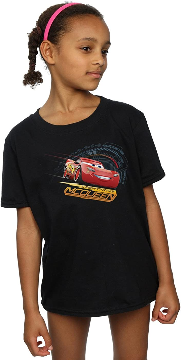 Disney Girls Cars Lightning McQueen T-Shirt 12-13 Years Black