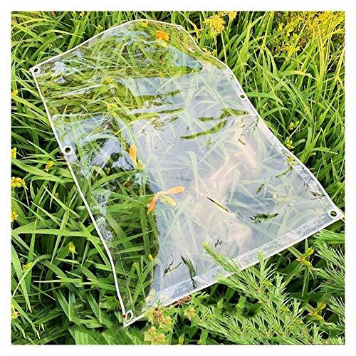 JYW-coverS YANJINGYJ Jardín Plástico Lona, Gazebo Protección Toldo, Muebles Antirresbaladiza Canvas for GardenMate Jardín Exteriores Intemperie, 600g /m², 0.5mm (Color : Clear, Size : 1.6x2m)