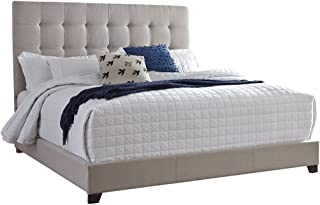 Ashley Furniture Signature Design - Dolante Upholstered Bed - Queen Size - Complete Bed Set in a Box - Contemporary Style - Tan