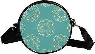 Coosun Umhängetasche mit Blumenmuster, Vintage-Stil, königliches Rahmen-Muster, runde Umhängetasche, Schultertasche für Ki...