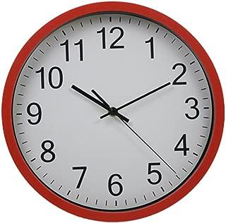 Harryup12 Inch Modern Quartz Design Homeslike Large Wall Clock Silent /& Non-Ticking Black Indoor//Outdoor