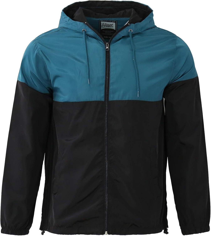 Men's Water Resistant Windbreaker Regular fit long sleeve Lightweight Street Comfort Trenchcoat