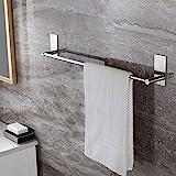 ZUNTO Selbstklebender Handtuchhalter gebürstetem Edelstahl Handtuchstange Ohne Bohren Bad und