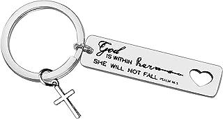 Christian Keychain Religious Jewelry Bible Verse Keychain Prayer Charm Keychain Faith Religious Jewelry for Women Girls In...