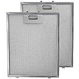 Spares2go Malla Metálica Filtro para Brandt campana extractora/cocina Extractor Ventilación (Pack de 2filtros, Plata, 300x 240mm)