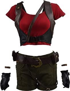 VOSTE Martha Costume Halloween Cosplay Party Show Shirt Vest Shorts Full Set