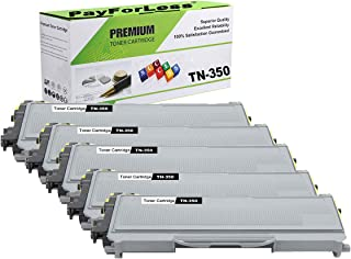 PayForLess TN350 TN-350 Toner Cartridge 5PK Compatible for Brother HL-2070N HL-2040 DCP-7020 MFC-7420 MFC-7225N MFC-7820N Intellifax-2820