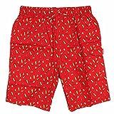 IZOD Men's Woven Sleep Pajama Jam Shorts (Spiced Coral, Small)