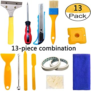 UOHGDPY 13 Pieces Caulking Tool Kit,caulk removal tool ,Silicone Sealant finishing tool grouting scraper,Floor tile adhesive removal,suitable for kitchen,bathroom,water tank, sink gap.(13 pack)