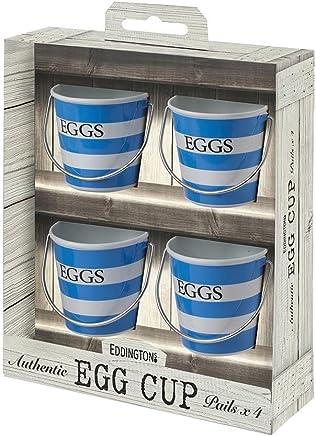Preisvergleich für Eddingtons blau und weiß gestreift Eierbecher Set von 4