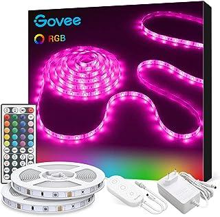 Govee Ruban à LED 10m Bande LED RGB Multicolores Améliorée Lumineuse avec Télécommande Décoration d'Armoire pour Maison Ch...