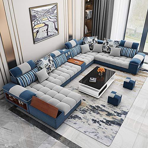 Winpavo Sofas & Sofas Sofa Corner Sofa Set U-Form Wohnzimmer Sofa Set Stoff Sofa-EIN