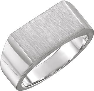 FB Jewels 925 الفضة الاسترليني 15x6 مم الرجال خاتم سيجنيت مستطيل