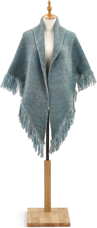 DEMDACO Women's Large Acrylic Knit Triangle Shawl Wrap