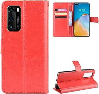 LODROC Lederen Portemonnee Case voor Huawei P40, [Kickstand Feature] Luxe PU Lederen Portemonnee Case Flip Folio Cover met...