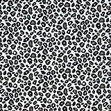 Textiles français Baumwollstoff | Leopard - Schwarz,