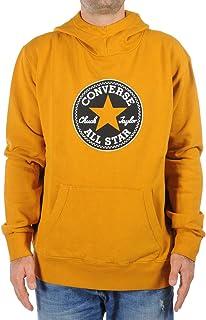 CONVERSE clothing Sweatshirt Fleece FZ Hood Sweatshirt Chunk Patch Sweatshirt CAPPUCC.Man Yellow 10021360