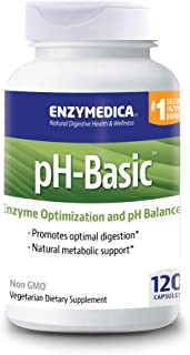 Enzymedica, pH-Basic, Promotes Healthy Digestion and pH Balance with Digestive Enzymes, Vegetarian, Non-GMO, 120 Capsules (120 Servings) (FFP)