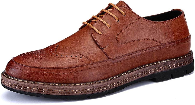Havanadd Lederschuhe für für für Männer Komfortable Outsole Classic Oxford-Schnitzerei im britischen Stil Business Oxford Schuhe (Farbe   Dunkelbraun, Größe   41 EU)  b89837