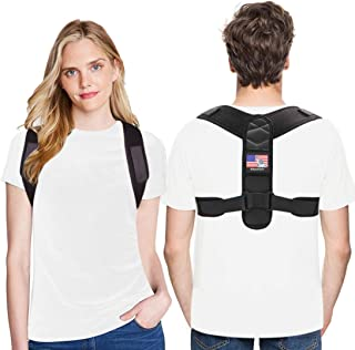 Blkpostzon Posture Corrector for Women and Men-Adjustable Back Strap-Shoulder and Female Back Brace Posture Corrector for Upper Back Support and Relieves Back,Neck and Shoulder Pain(Universal)