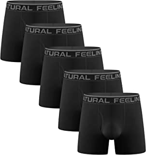 Lovemist Mens Underwear Boxers Mens Sports Boxer Briefs Mid Long Underwear Quick Dry Performance Multi Pack for Men