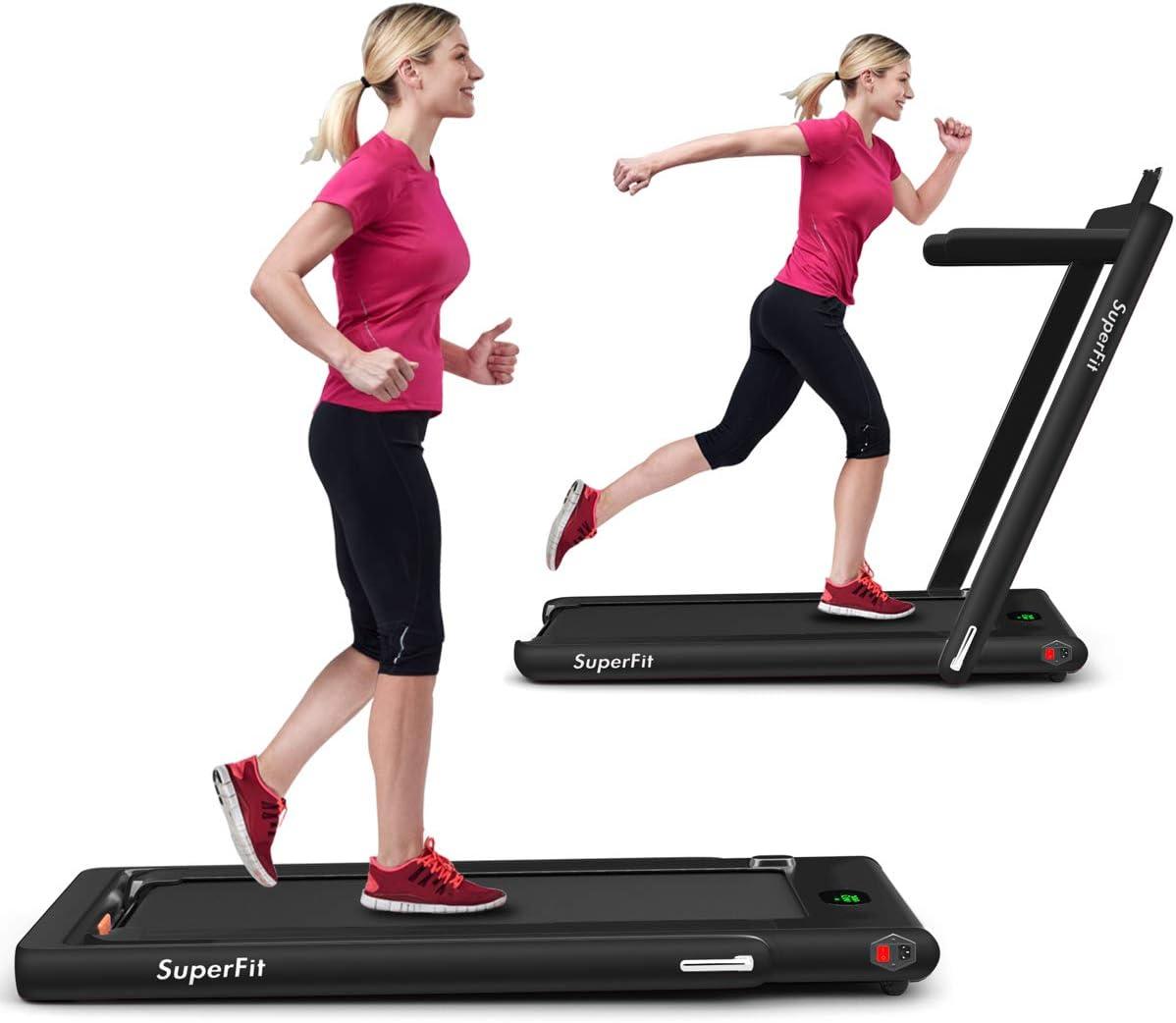 GYMAX 2 in 1 Folding Treadmill Desk NEW 2.25HP Electric Regular dealer T Pad Under