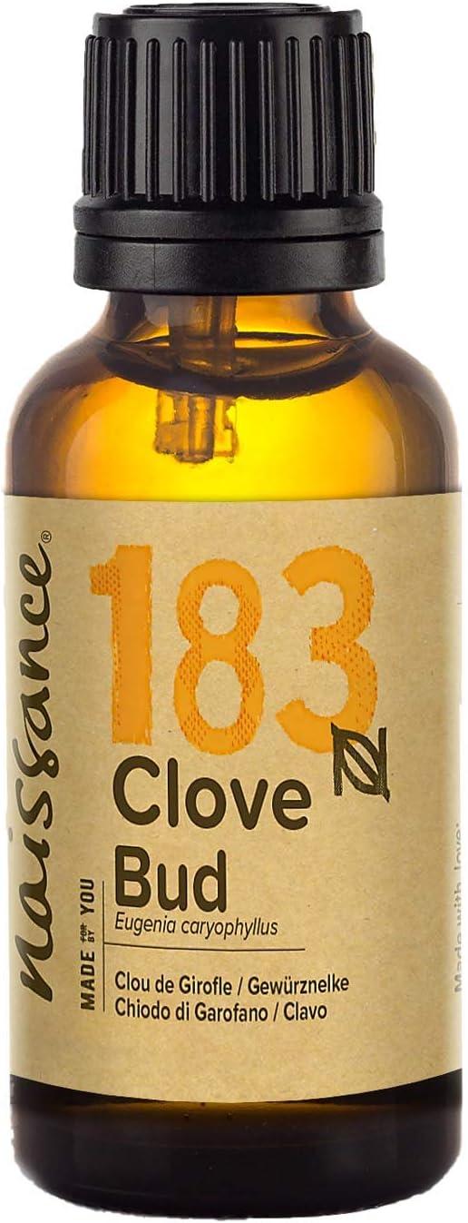 Naissance Aceite Esencial de Clavo 30ml - 100% puro, vegano y no OGM