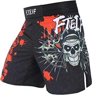 KANKU Black MMA Short with Red Yellow stitchig Adult Training Grappling Fighting