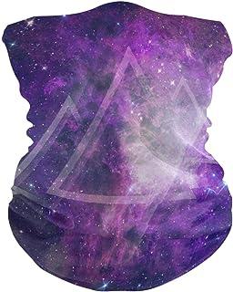 Galaxy Triangle Purple Bavaclava Face Mask for Women Bandana Neck Gaiter Half Face Masks Cold Weather Men kids