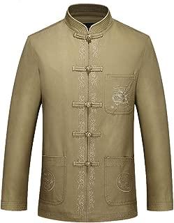 ZooBoo Tang Suit Kung Fu Jacket - Chinese Traditional Martial Arts Uniforms Tai Chi Clothing Dragon Jacket for Men