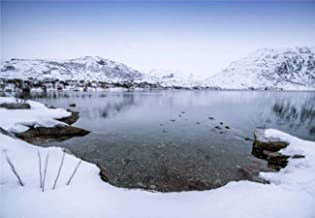 Jigsaw Puzzles Winter Fjord in ersfjordbotn tromso County Norway Fishing Village for Kids Adults Educational Intellectual ...