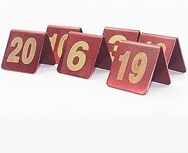 Tabel Nummers, Rvs Restaurant Place Nummerplaat, Rode Tafelnummer Tafelplaat Digital Restaurant Card, 50x50mm (Color : 1-70)