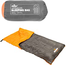 Milestone Camping 26700 Envelope Sleeping Bag Single 2 Season Single Insulation Grey & Orange