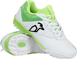 Kookaburra Unisex-Youth KC 5.0 Cricket Rubber Sole Shoes, White/Lime