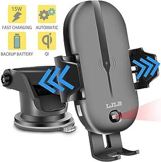 LJLB Wireless Car Charger Mount 15W 10W 7.5W qi Certified Fast Charging Car Phone Holder car Wireless Charger Phone Mount for Samsung note8 S10/S10+/Note9/ S9+/ S8+ iPhone Xs/XS Max/XR/X/8+