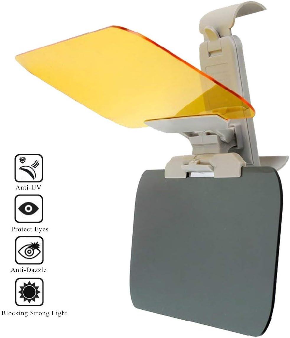 2 In 1 Automobile Sun Anti-UV Block Visor Non Glare Anti-Dazzle Sunshade Mirror Goggles Shield For Driving Goggles JFJL Car Day And Night Anti-Glare Visor Car Visor