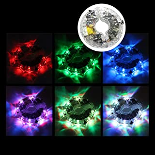 Nesee USB Charge Colorful Waterproof Flower Drum Wind Fire Wheels Bicycle Wheel Light LED Wheel Cycling Bicycle Accessory Bike Light