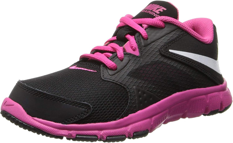 Nike Girl's Flex Supreme TR 3 Training Shoe (11C-7Y) Black/Vivid Pink/White Size