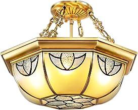 E27X4 all bronze Ceiling lights European style American style Retro Copper lamp Lighting LED 45 * 45cm