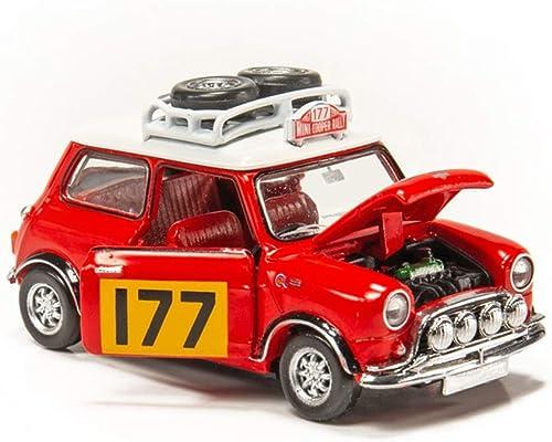 descuento de bajo precio GAOQUN-TOY 1 50 Mini Cooper Rally Rally Rally Alloy Mini Cooper Rally Alloy Car (Color   rojo)  en stock
